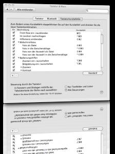 In Dialogfenstern wie unter Windows mit der TAB-Taste navigieren